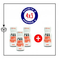 PACK 4 POPPERS PUR AMYL/PROPYL 10ML